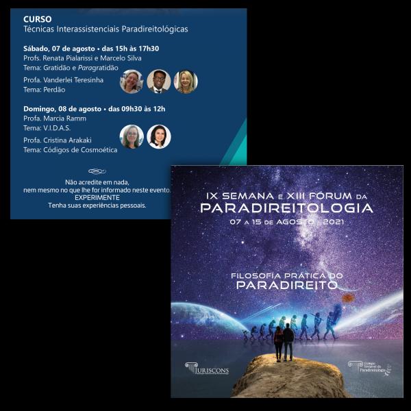 Cartaz Pacote - IX Semana da Paradireitologia e Curso